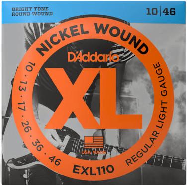 D'Addario EXL110 Nickel Wound Regular Light 10-46