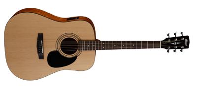 CORT Westerngitarre, AD810E, Open Pore, Preamp