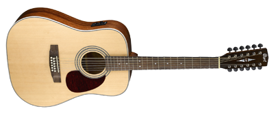 CORT Westerngitarre, Earth 70-12E, Open Pore, Preamp, 12-Saiter