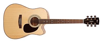 CORT Westerngitarre, AD880CE, Natur Satin, Preamp