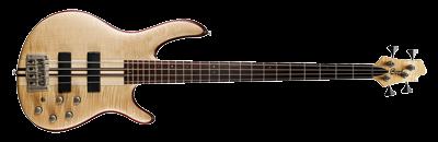 Cort Bassgitarre, A4 Plus FMMH, Open Pore Natural