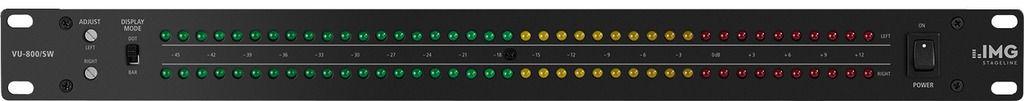 IMG Stageline VU-800/SW dB Anzeige