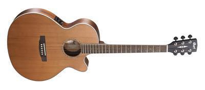 CORT Westerngitarre, SFX-CED, Natur Satin, Preamp