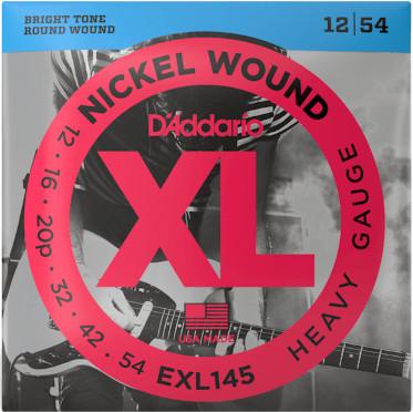 D'Addario EXL145 Nickel Wound Heavy Plain 3rd 12-54